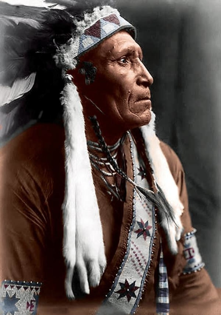 """""""Indian in War Bonnet,"""" no photographer or date given."""