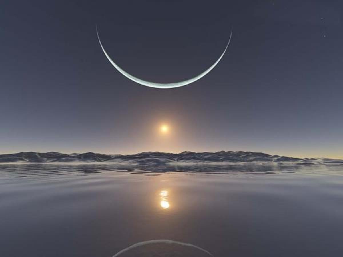 A cup-shaped moon heralds the winter solstice, and storytelling season begins.