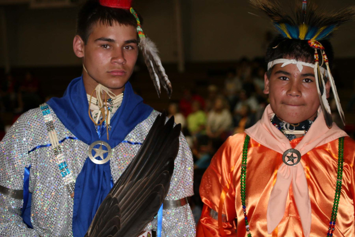 Brothers at the Coffeyville Pow Wow in Kansas