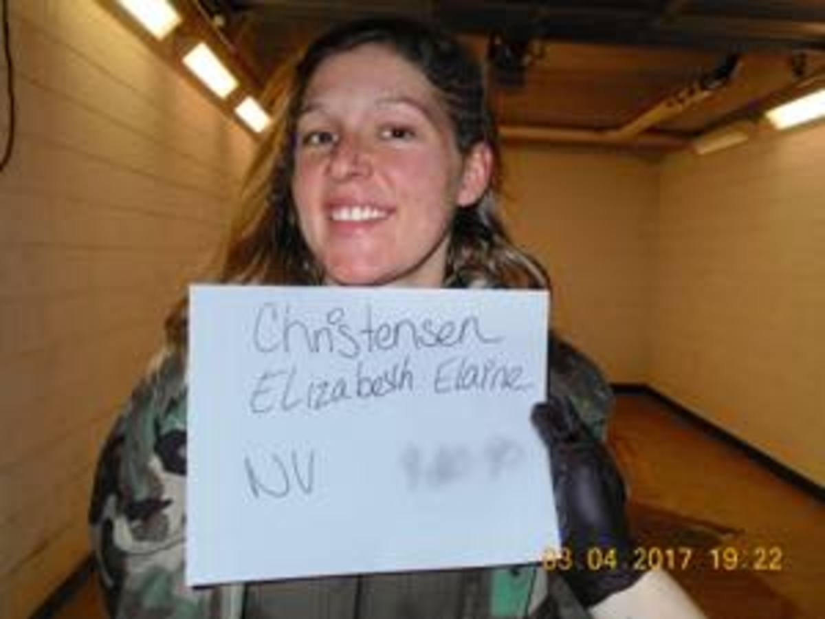 Elizabeth Christensen, a non-Native arrested water protector, was not strip-searched as many women of color were when arrested with Monet.