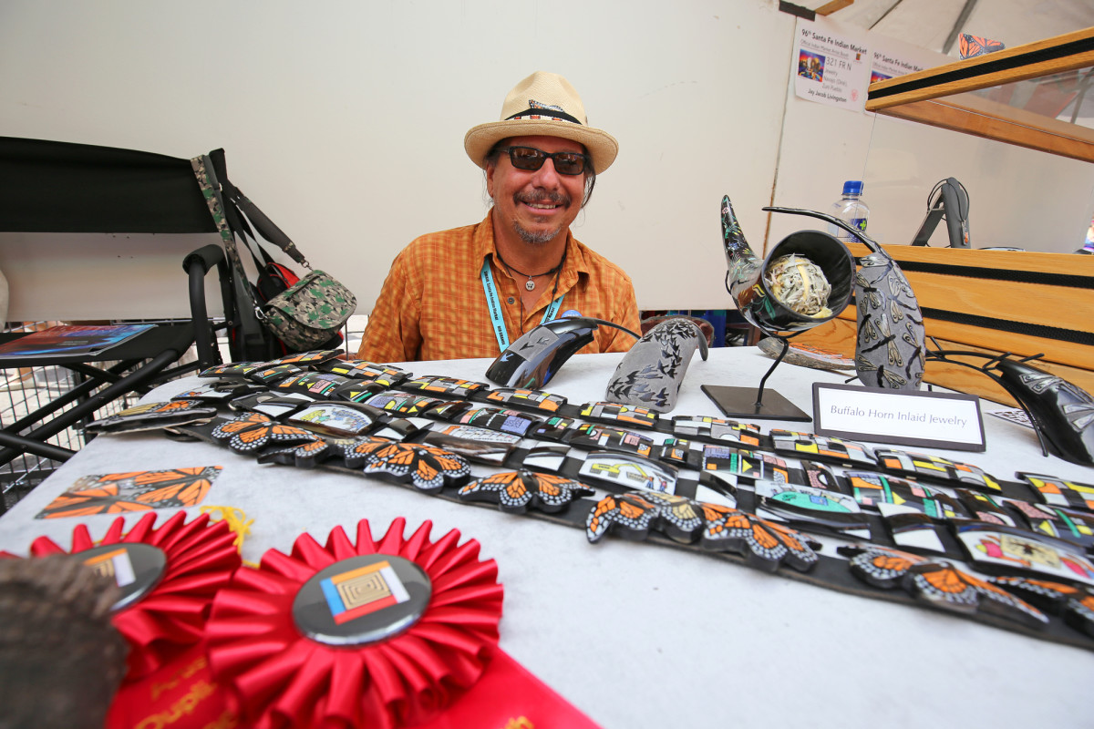 Kevin Pourier, Oglala Lakota Sioux at the Indian Market.