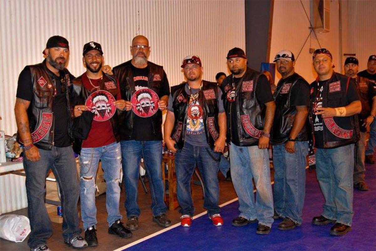 Members of the Lumbee Chapter of Redrum receiving awards at the event.
