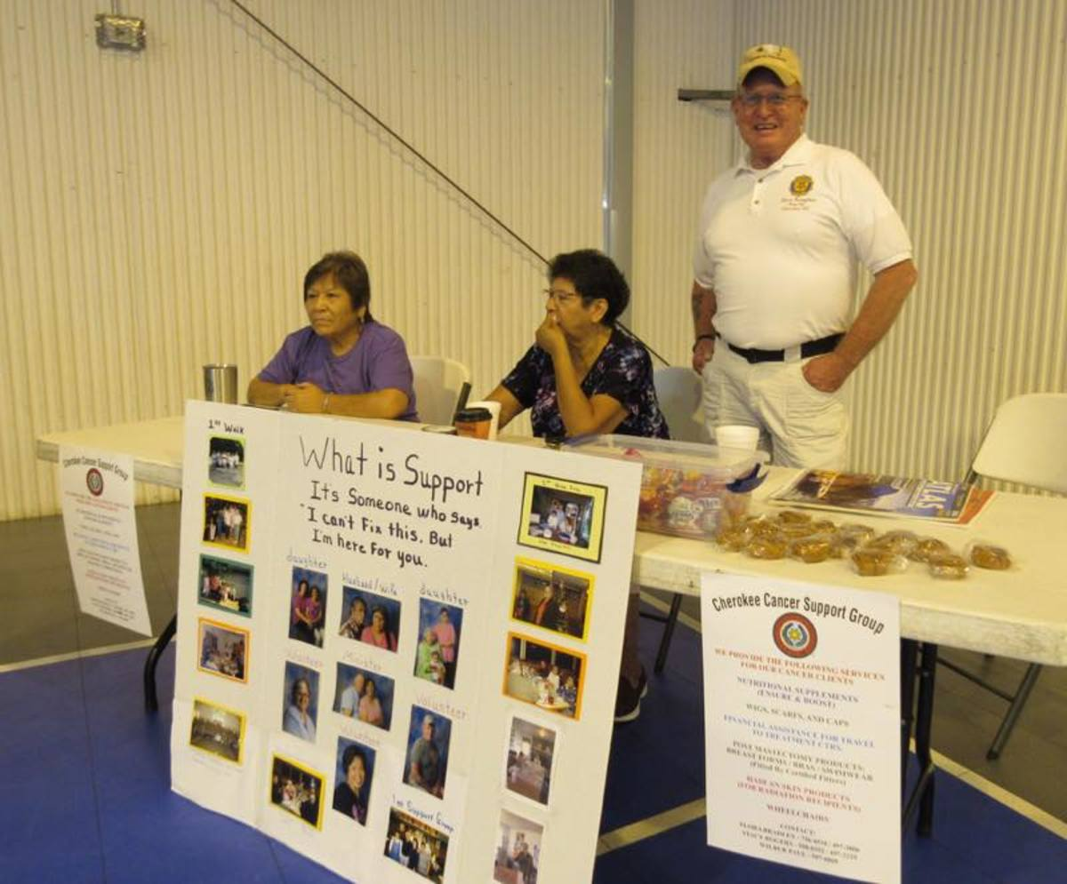 Members of the Eastern Cherokee Cancer Support Group, some of the beneficiaries of the $5,000 raised.