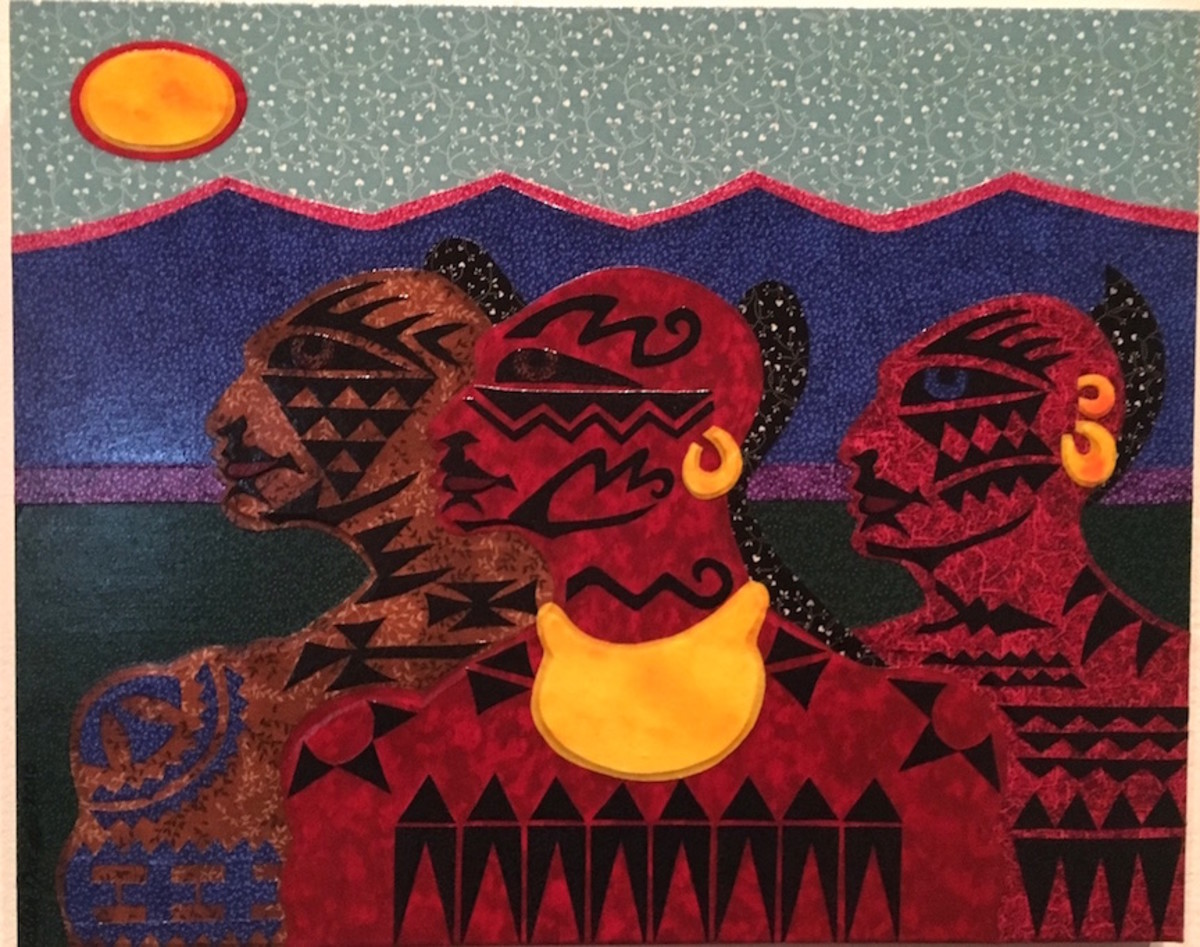 """Alex Jacob's """"Kanienkehake: People of the Flint"""" was part of the ending of """"Tattooed New York"""" was part of the """"Indian Ink"""" exhibit at the Iroquois Indian Museum."""