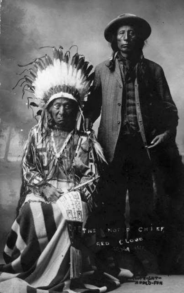 Oglala Sioux Chief Red Cloud and son Jack Red Cloud, 1900.