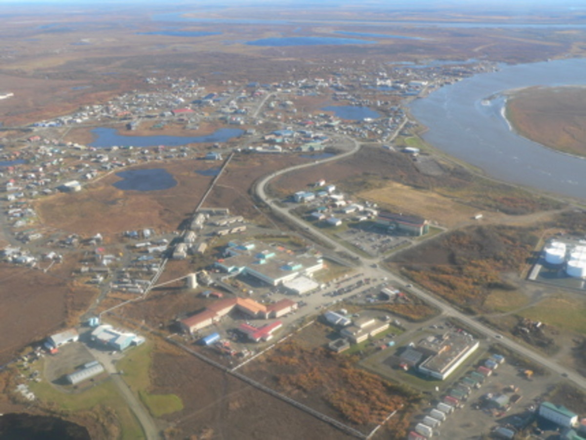 A program in Bethel, Alaska—pictured here from the air—is helping Alaska teachers remove barriers to education.