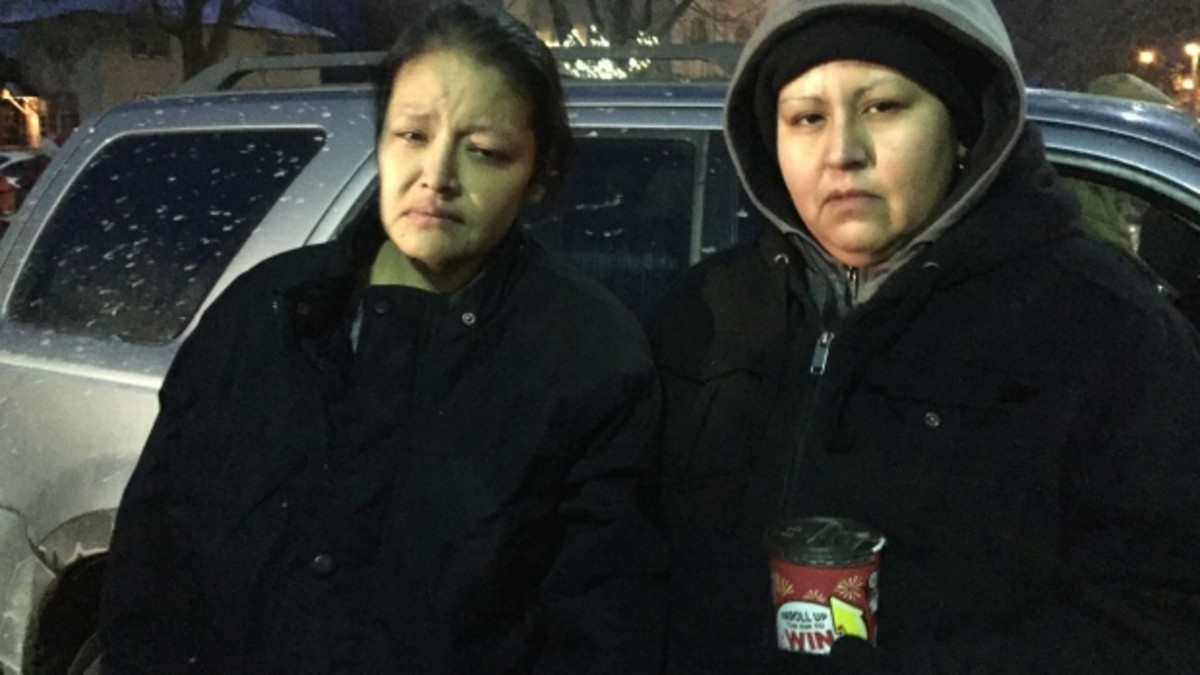 Barbara Kentner, left, with her sister Melissa Kentner after being hit by a trailer hitch flung from a moving car in January. Barbara succumbed to her injuries on July 4.