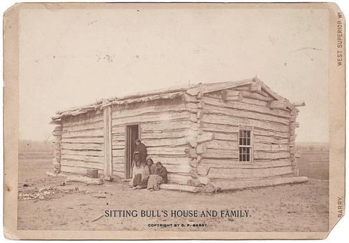 Circa 1891. D.F. Barry Photograph of Sitting Bull's Home