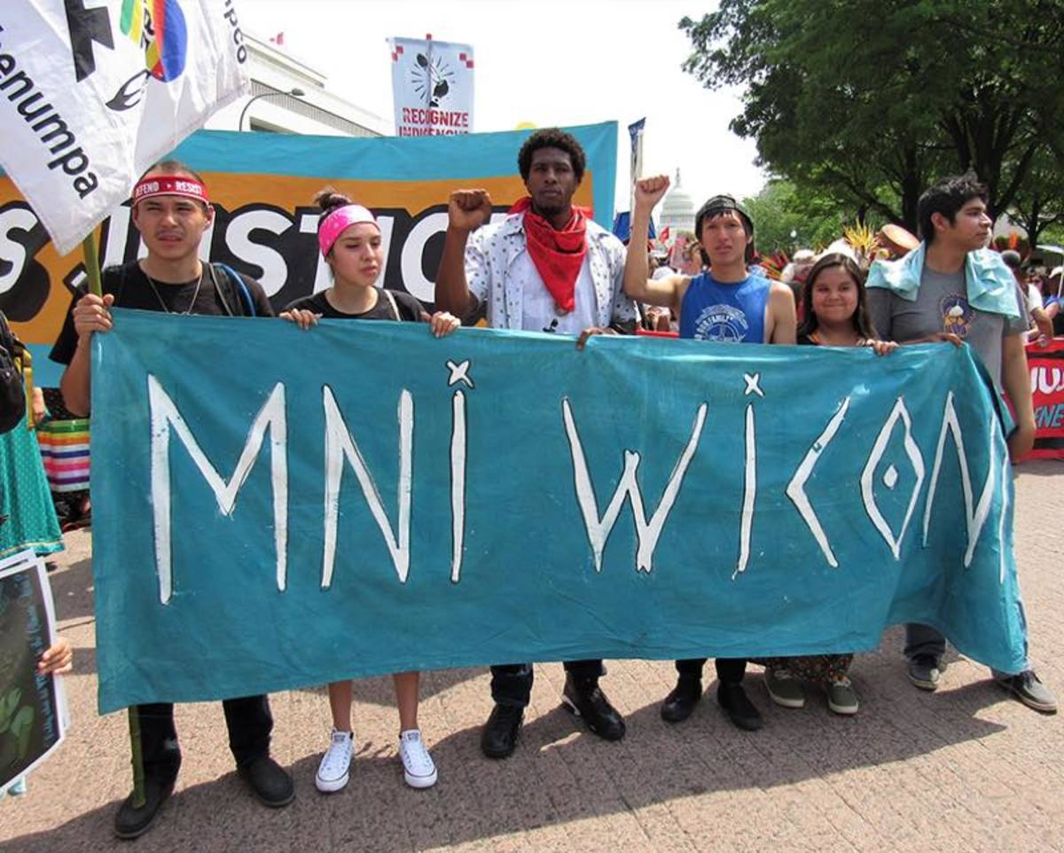 Members of the Standing Rock youth group started the first call for supporters almost one year ago.
