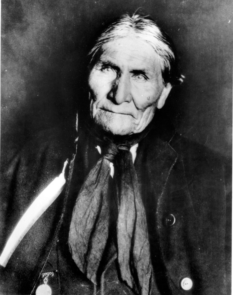 This undated file photo shows the Chiricahua Apache Geronimo, late in his life.