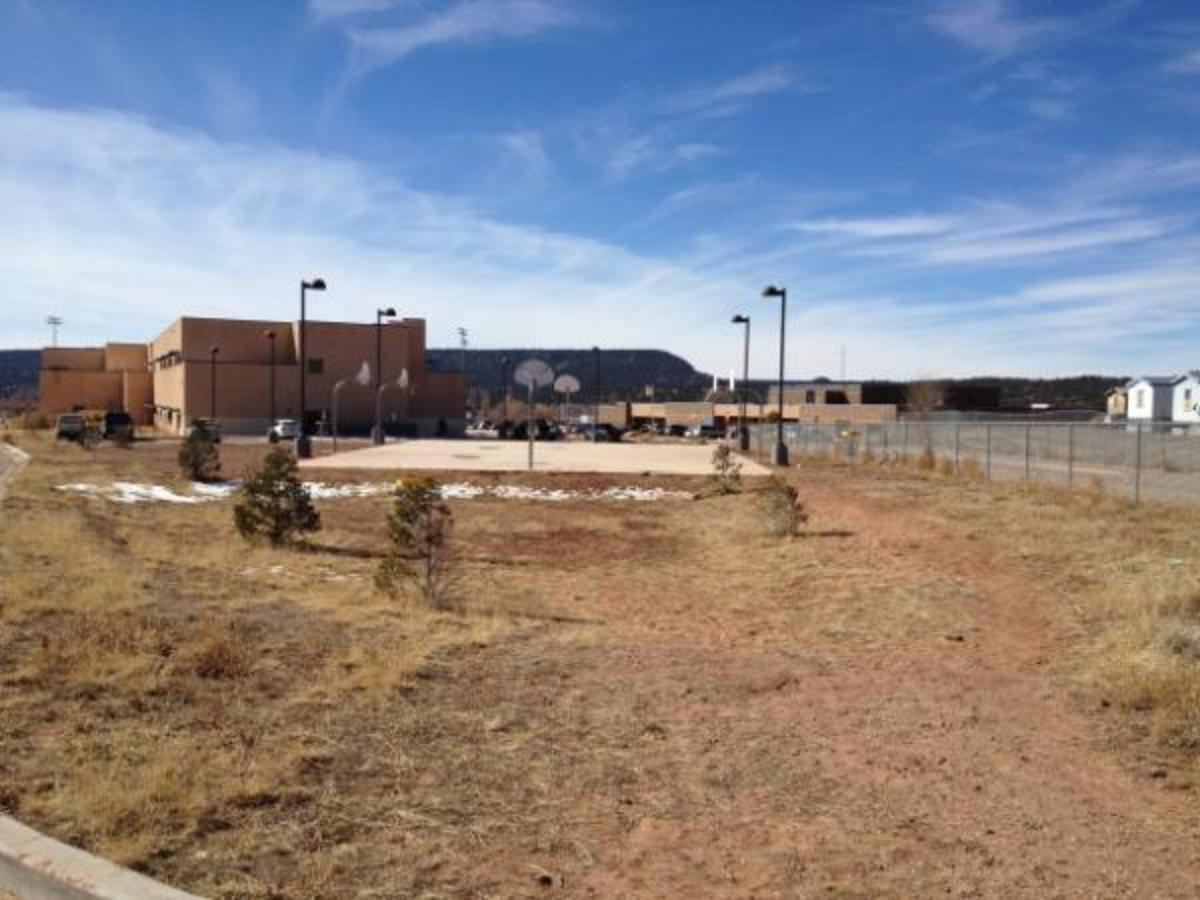With rates of COVID-19 reaching new highs, it is unclear when school officials will reopen schools such as this one, Navajo Middle School, a reservation school in Navajo, New Mexico.