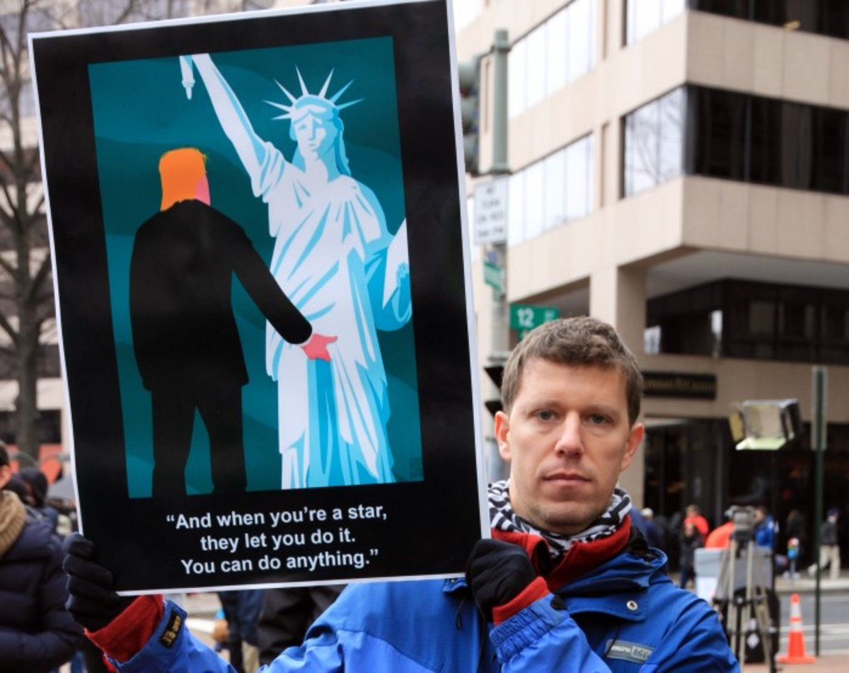 A strong and provocative message on Inauguration day. Photo-Christian Gomez