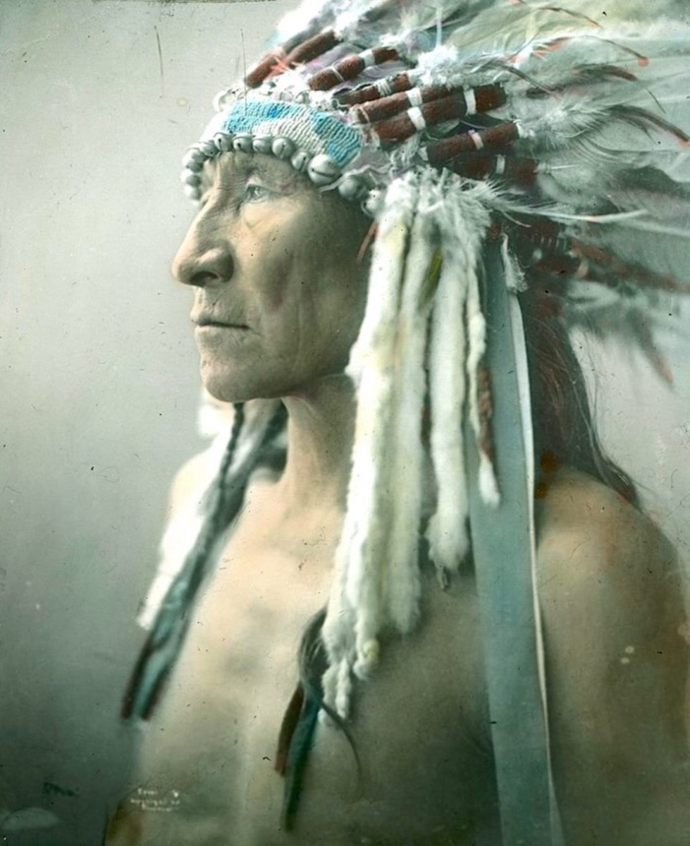 portraits, Striking Bear (detail). Sioux. Early 1900s. Photo by Richard Throssel.