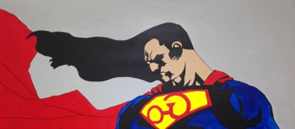 """In a work of art purchased by the Heard Museum in Phoenix, Arizona and featured in their """"Natives in Comic Books"""" show, Tom Farris gave Superman long hair and used the Cherokee letter for """"S"""" in place of the normal Superman emblem."""