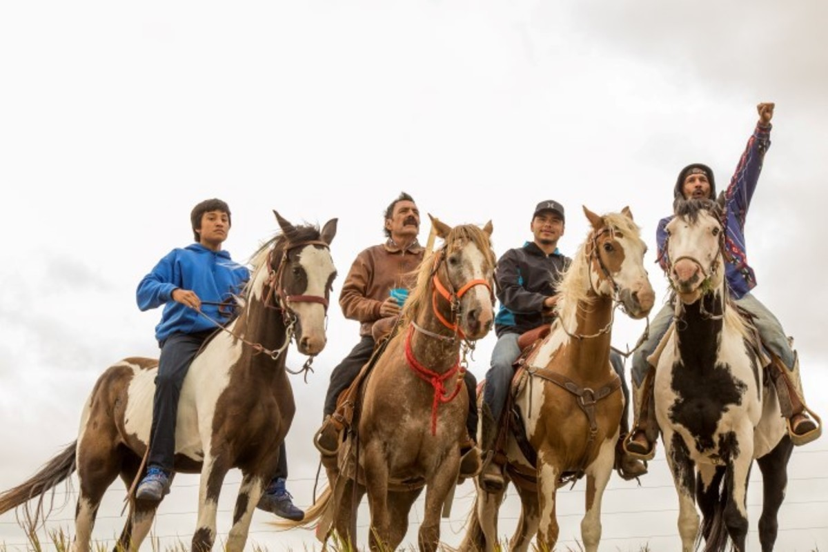 Spirit Riders at the Standing Rock Oceti Sakowin Camp - Photo Alex Hamer