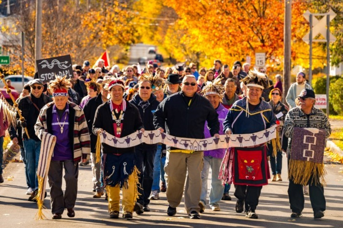 The 222nd Commemoration of the 1794 Treaty of Canandaigua between the Haudenosaunee Iroquois and the US government. Nov 2016 - Photo Alex Hamer