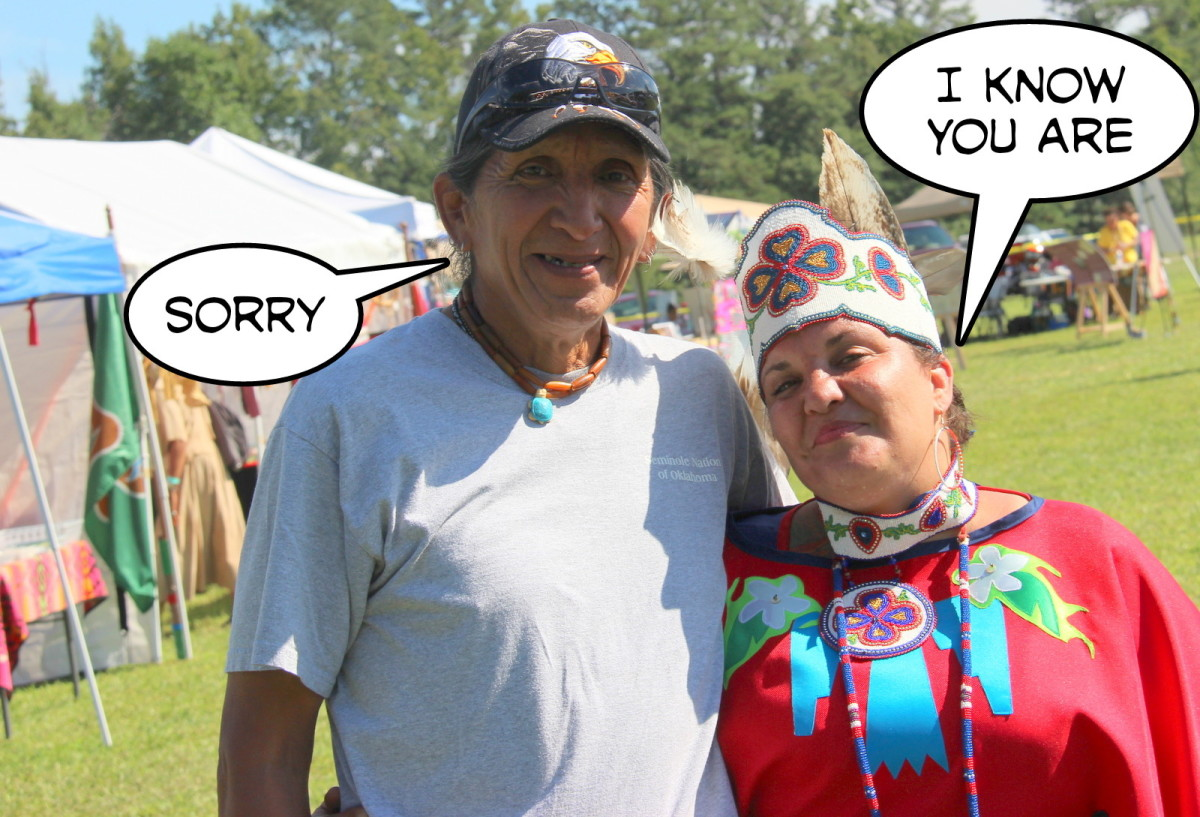 Every Native man likely knows the importance of the word 'sorry.'