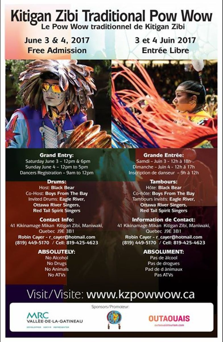 The ICMN Weekly pow wow planner for June 2-4 includes the Kitigan Zibi Traditional Pow Wow.