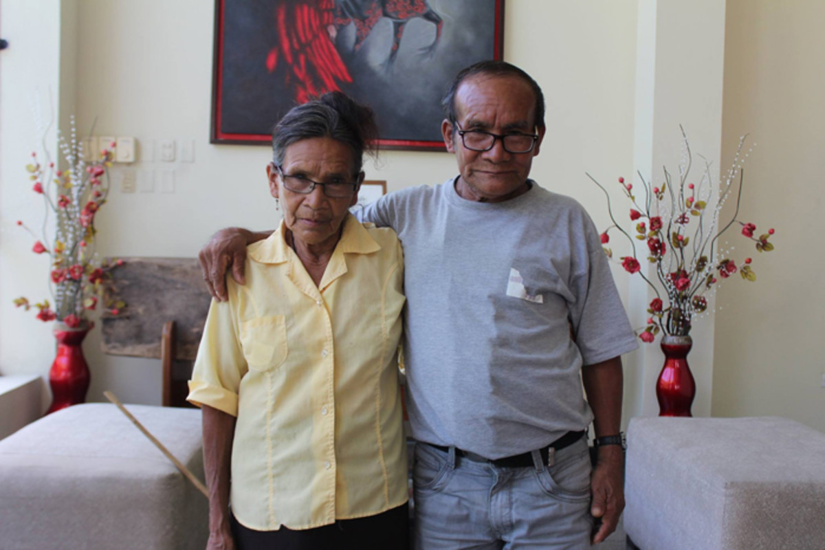 Rosa Andrade and her brother Pablo