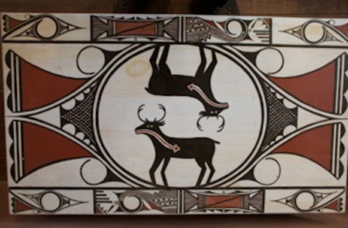 A piece from the A:shiwi A:wan Museum and Heritage Center in Zuni, New Mexico
