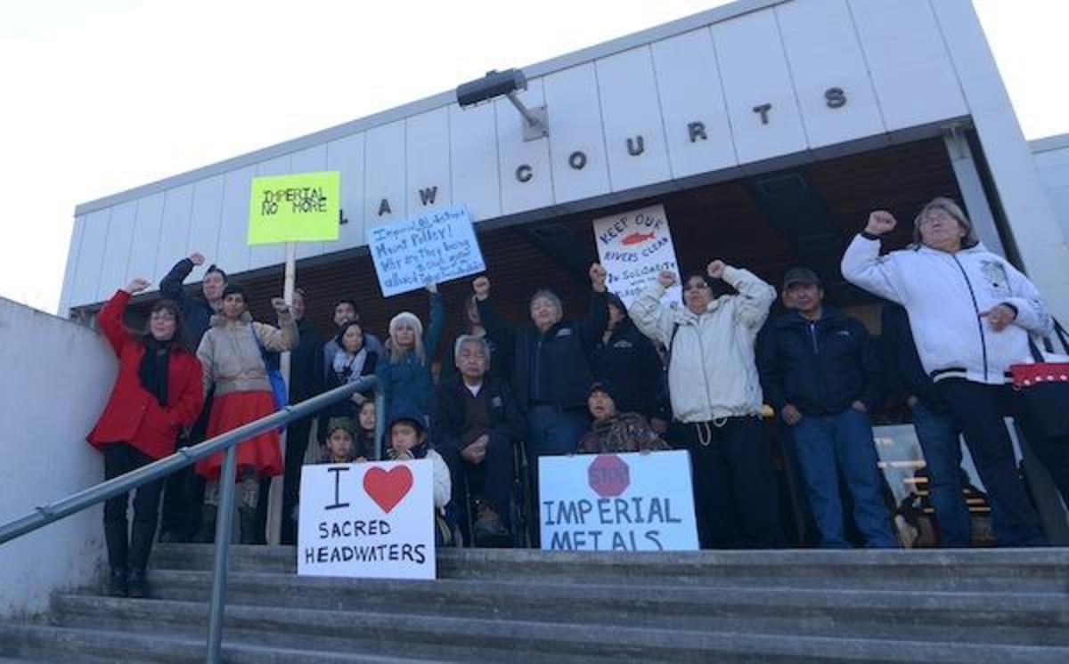 Tahltan elders and families go to court to save Tl'abãne from Red Chris Mine, owned by Imperial Metals Corp., which owns Polley Mine, whose dam breach sent billions of gallons of toxic waste into pristine British Columbia waterways.