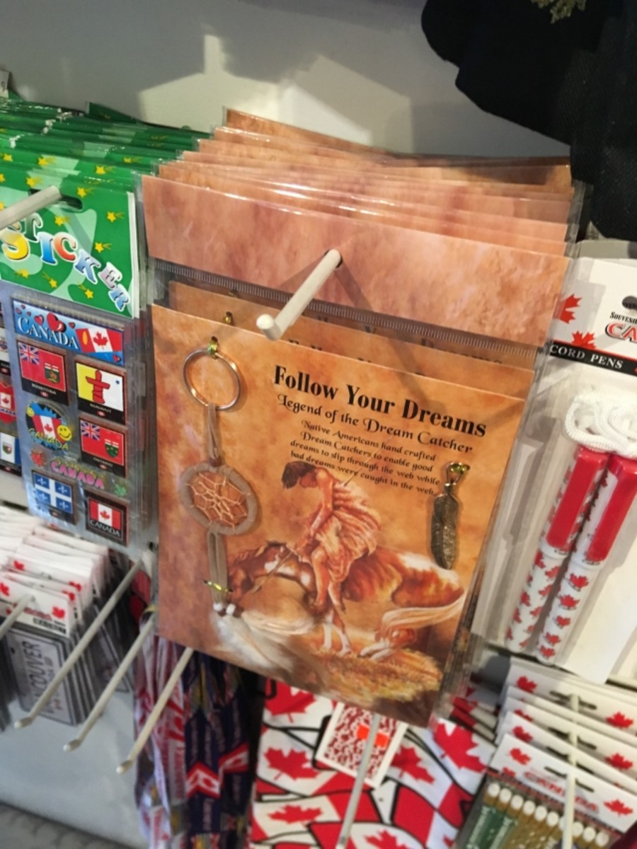 A make-your-own dreamcatcher kit, made in China and distributed by KC Gifts, is displayed at one of several stores we visited during our investigation.
