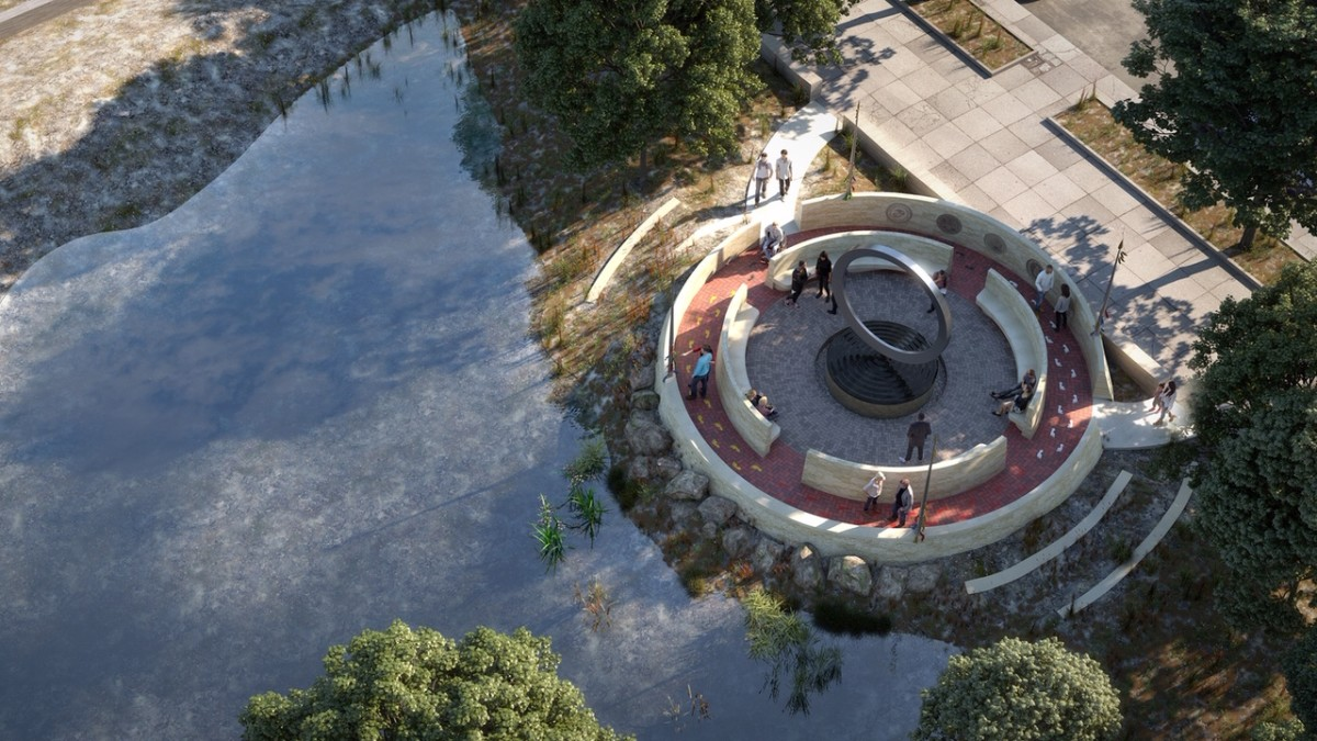 Artist's conception of the planned National Native American Veterans Memorial, scheduled for dedication on November 11, 2020.