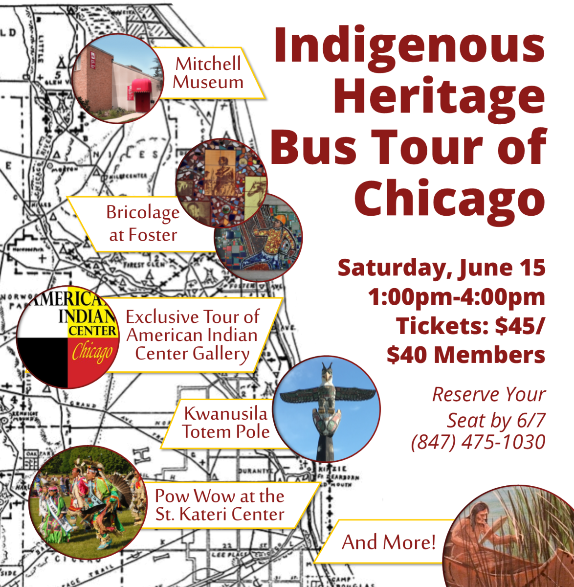 Mitchell Museum of the American Indian Indigenous Heritage Bus Tour of Chicago June 15, 2019 - flyer