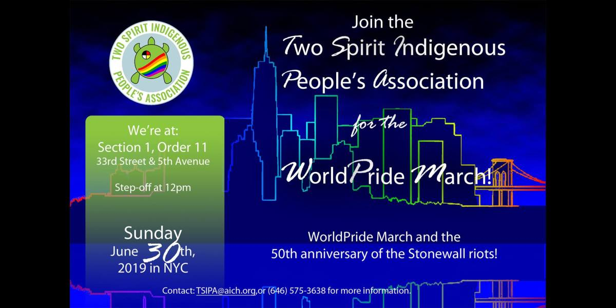 NYC indigenous two spirit march 2019