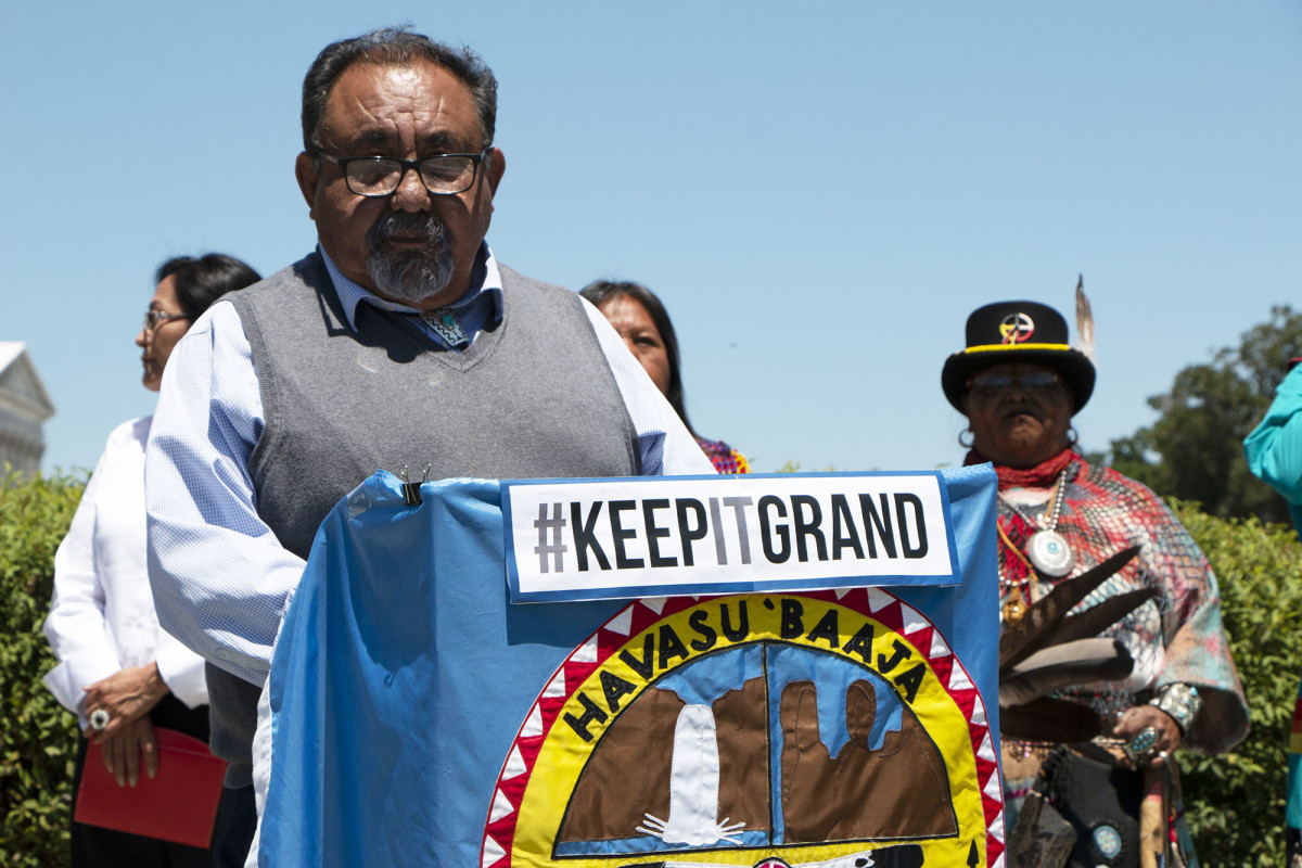 Rep. Raul Grijalva, D-Tucson, said his bill would simply make permanent a current mining moratorium on 1 million acres around the Grand Canyon. The bill's 100 co-sponsors include all five Arizona Democrats. (Photo by Miranda Faulkner/Cronkite News)