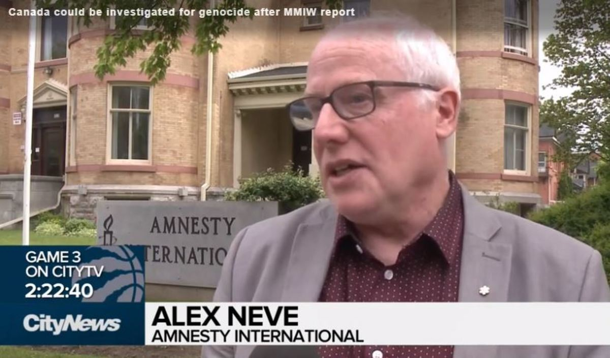 According to Alex Neve, secretary general of Amnesty International Canada, Canada as a whole could be on target for investigations into genocide or negligence by policymakers. (Screen capture)