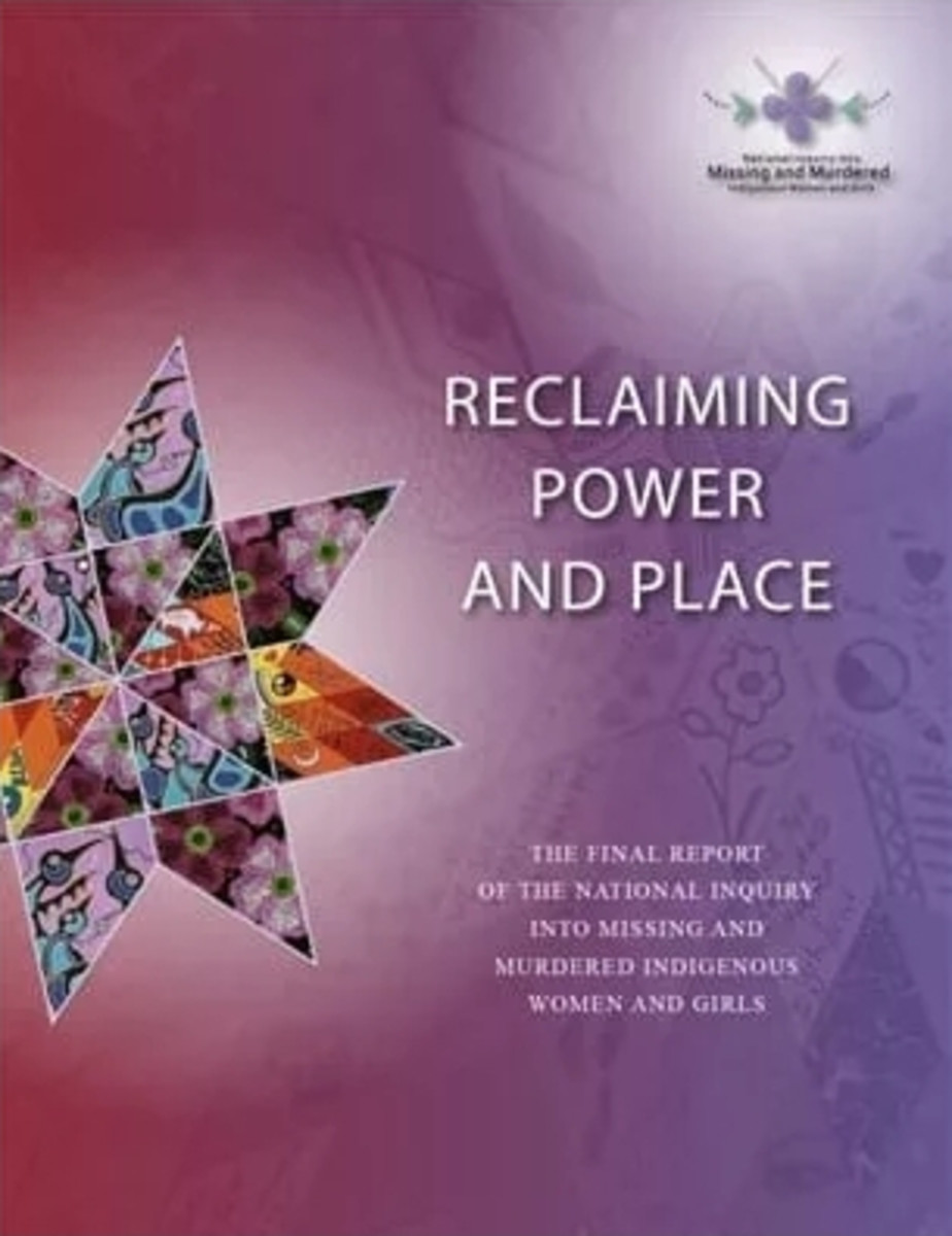 """Pictured: National Inquiry into Missing and Murdered Indigenous Women and Girls final report """"Reclaiming Power and Place"""""""