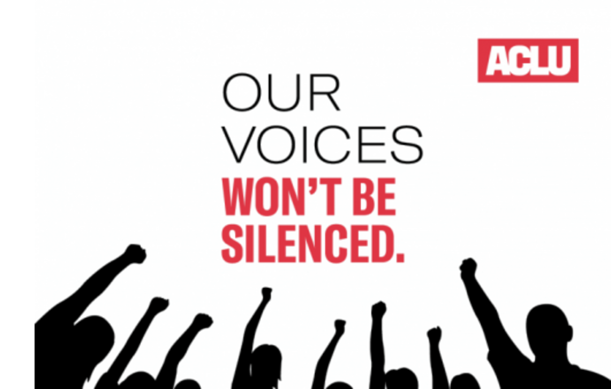 ACLU_Our voices wont be silenced