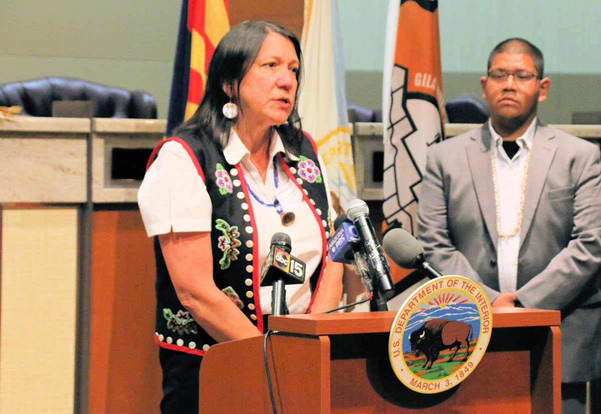 """Michelle Demmert, Central Council Tlingit and Haida, is the tribe's elected chief justice and has experienced the """"harsh reality"""" of violence in Indian Country first-hand."""