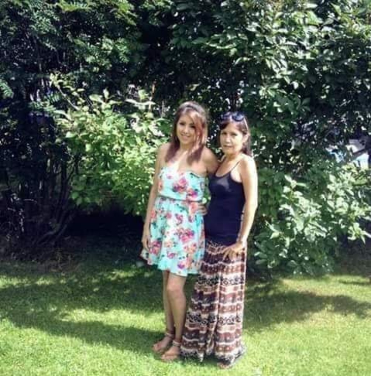 Nicole Gladue-Weesemat and her mother Gloria. Gladue disappeared from her home community of Wabasca, Alberta, in the fall of 2015. On June 27th, it will be one year since the worst day of Nicole Gladue-Weesemat's life. A Royal Canadian Mounted Police officer came to tell her that her beloved mother's bones were found thousands of miles away in rural Manitoba, CA. (submitted by Nicole Gladue-Weesemat)