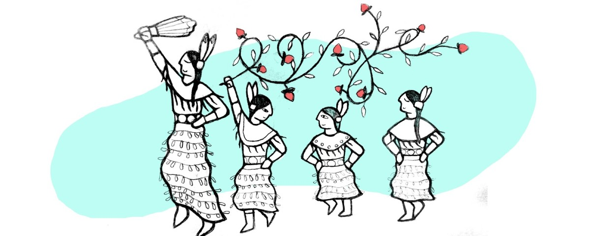Early sketch of the Jingle Dance for Google Doodle.