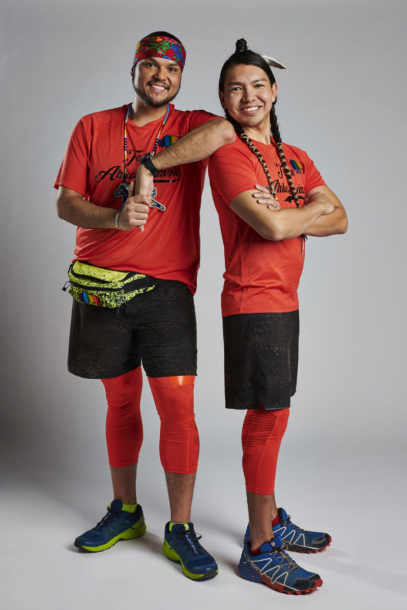 Amazing Race Canada duo standing