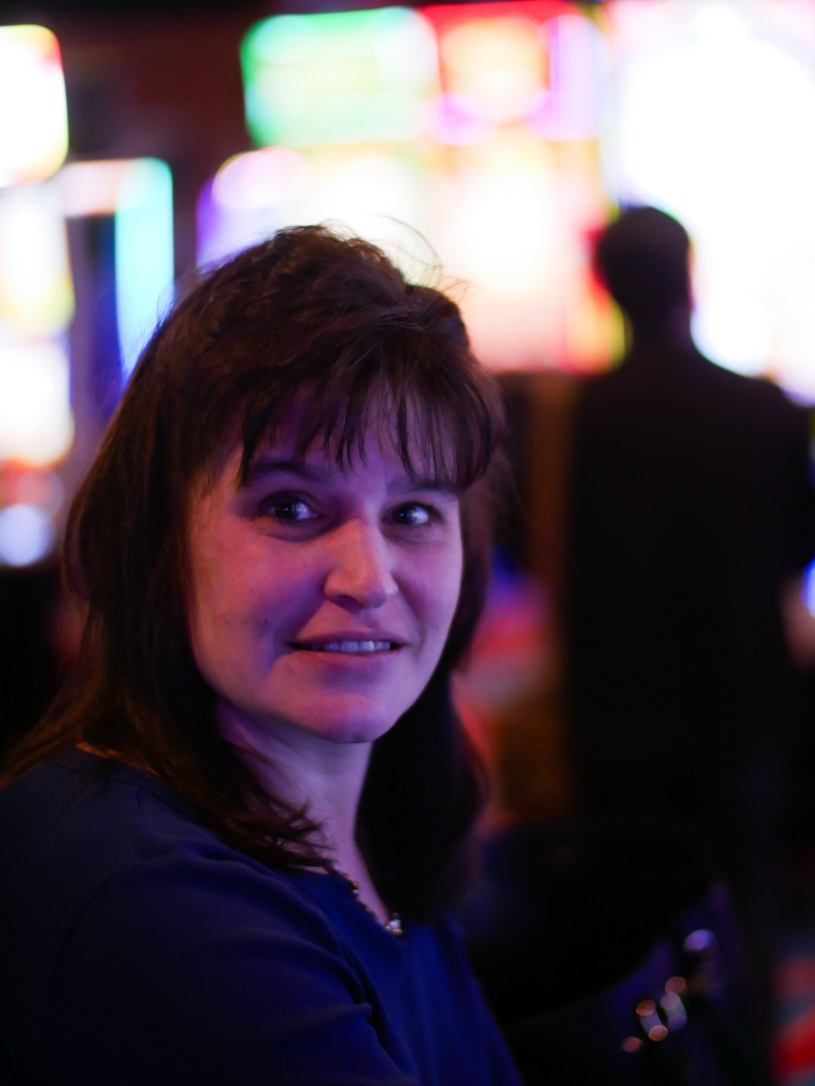 Peggy Fowler, a local of the area, uses the casino as a weekend escape from her busy, full-time job as a school bus driver.