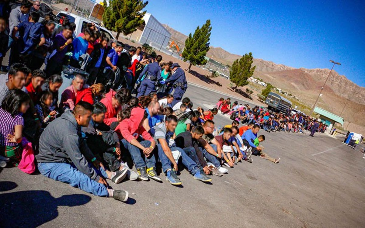 Border Patrol agents apprehended 1,036 men, women and children trying to cross the border in El Paso, Texas, in May. (Photo by Agent Edward Butron/U.S. Customs and Border Protection)