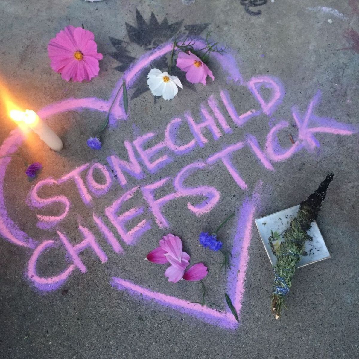 """Lisa Ganser posted this tribute to Stonechild Chiefstick on GoFundMe with the note, """"Sending love from Olympia."""""""