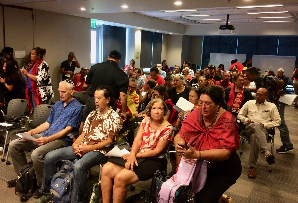 At the Board of Regents meeting on August 2. (Photo by Anne Keala Kelly)