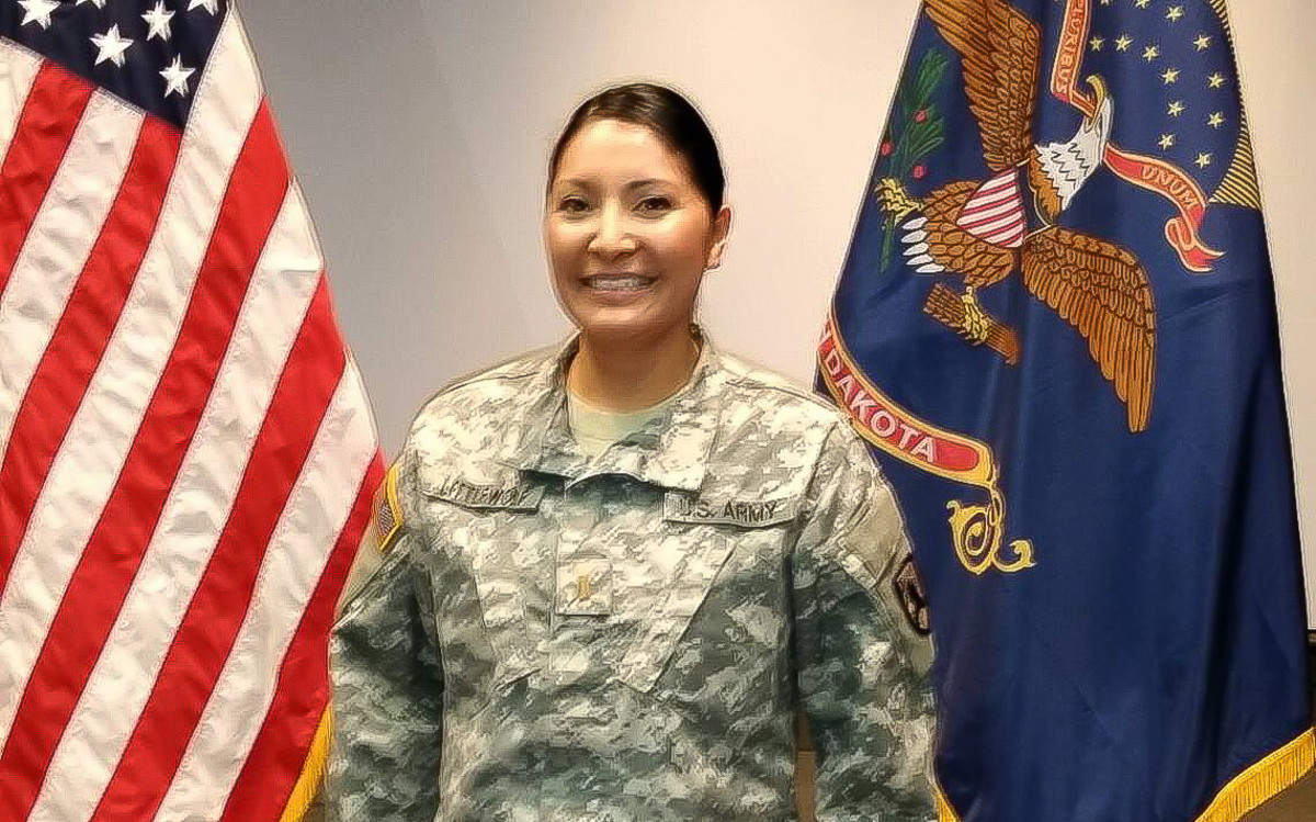 Ciciley Littlewolf is a first lieutenant in the North Dakota National Guard. (Courtesy, The Forum)