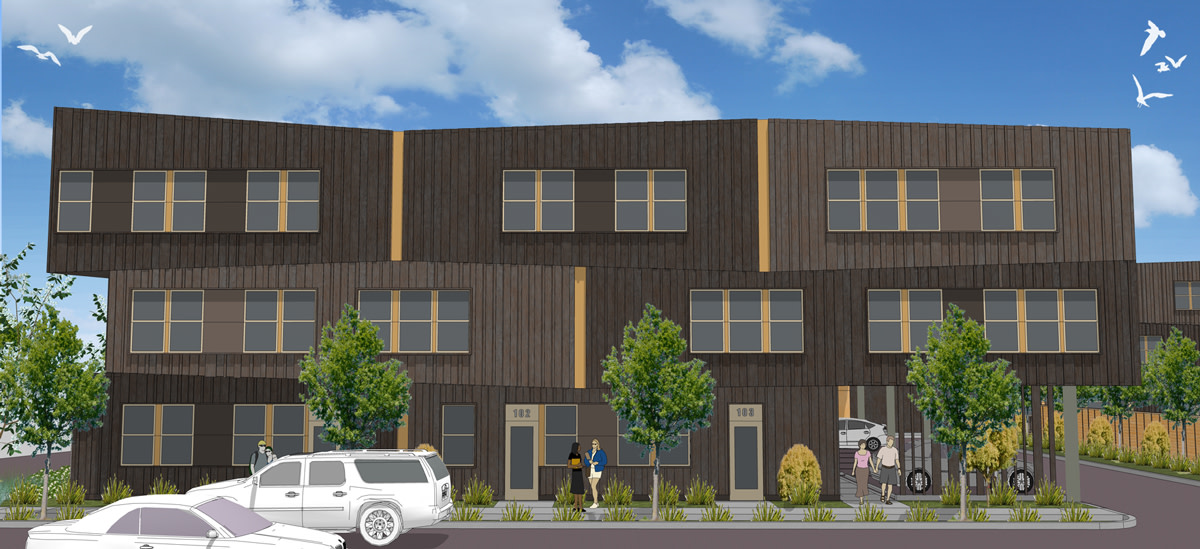Medical, dental, and behavioral health care services will be provided on-site to residents through the Native American Rehabilitation Association at 'Nesika Illahee' Photo: www.communitydevpartners.com