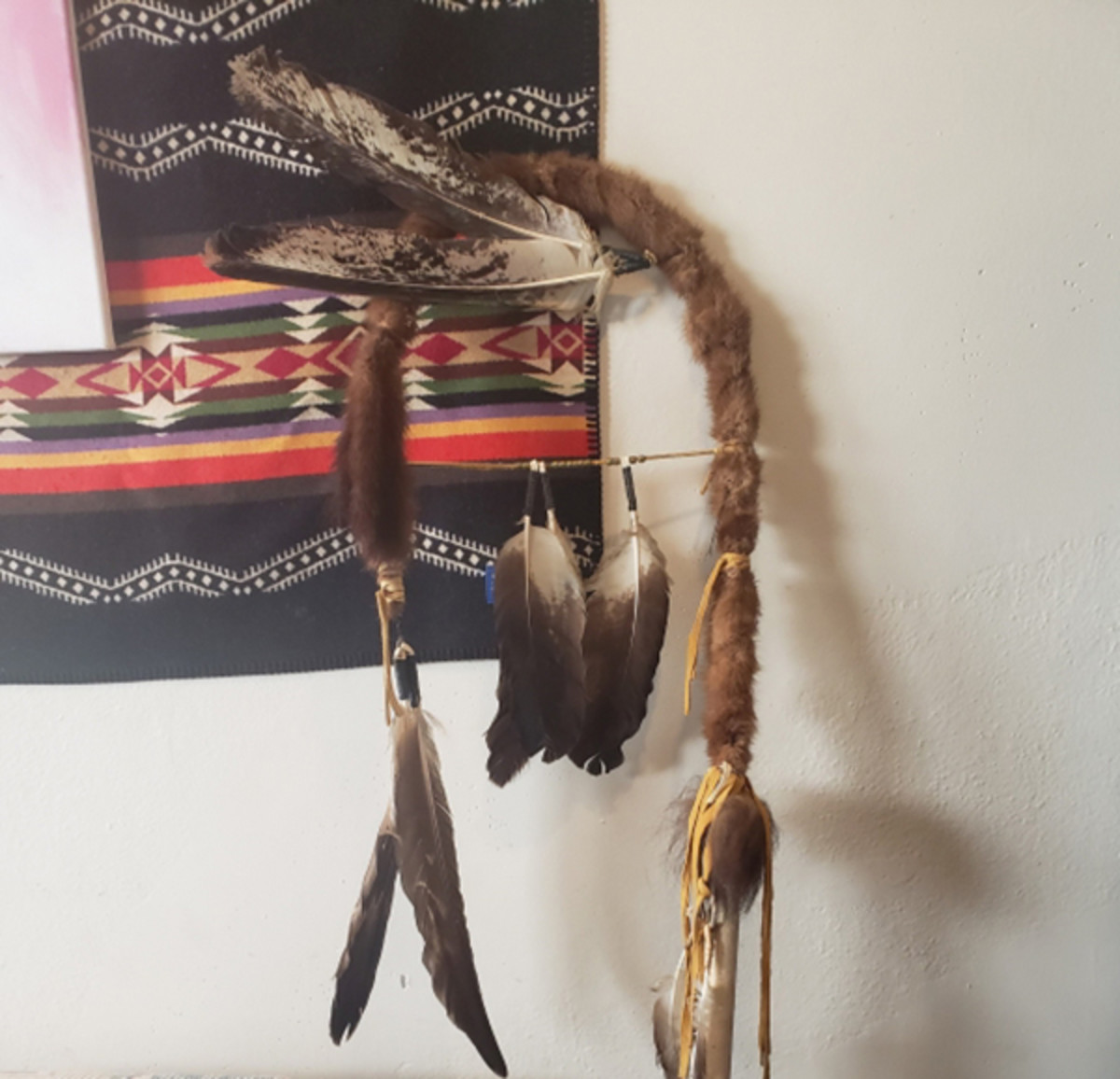 feathers, feather, staff