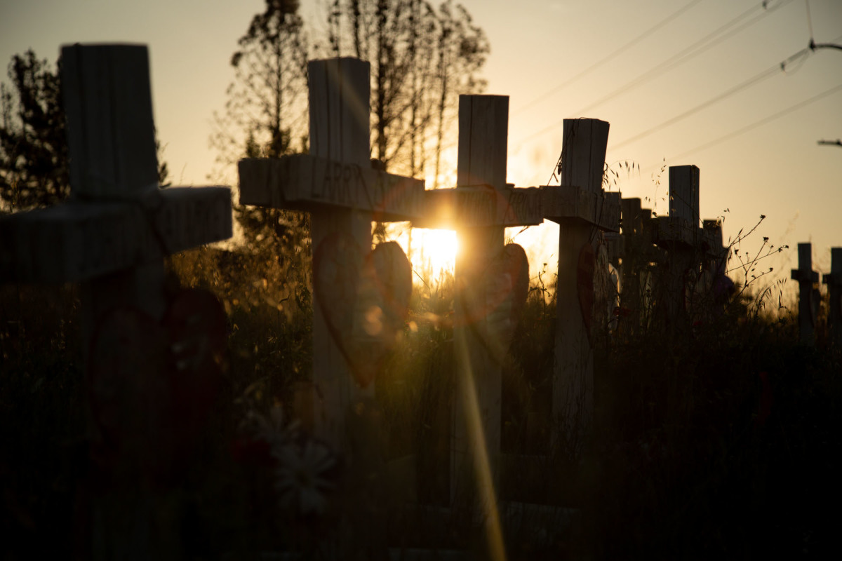 Eighty-five memorial crosses and scorched cars are reminders of the deadly 2018 Camp Fire in Northern California, which nearly wiped out the town of Paradise.