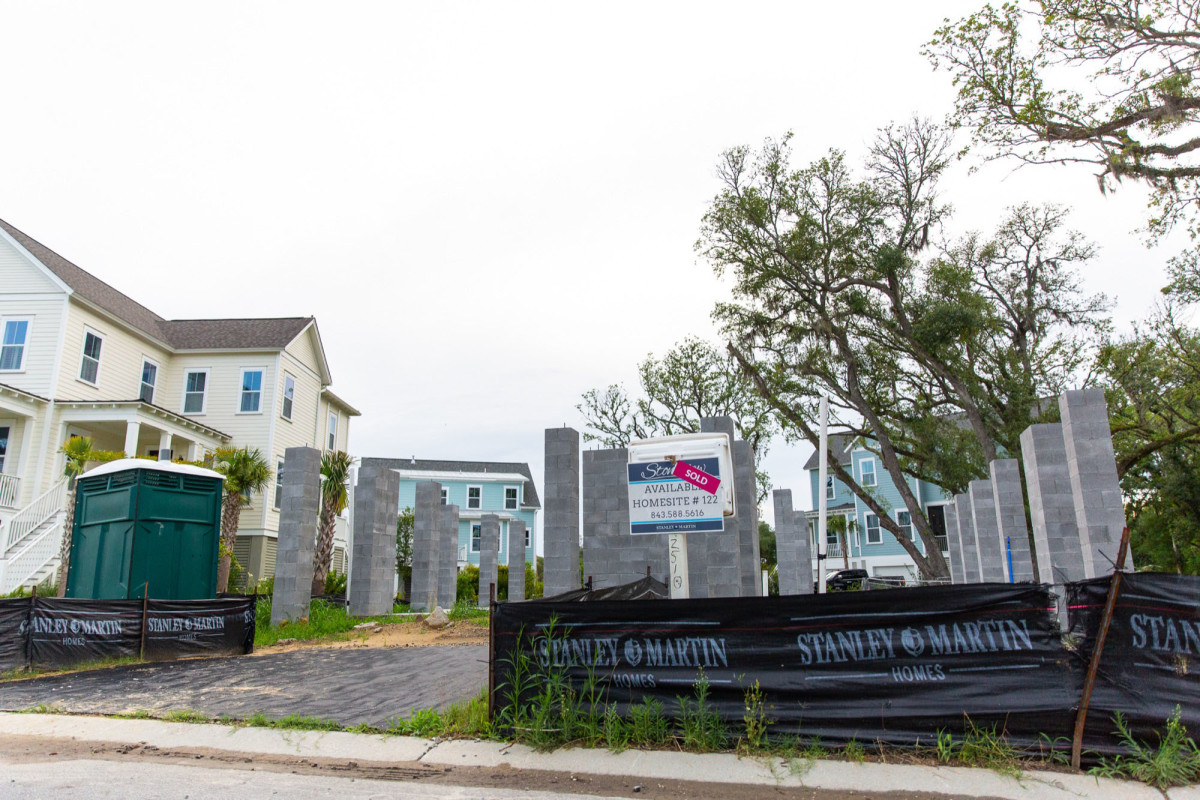 Builders of the Stonoview development in a low-lying suburb of Charleston, South Carolina, used fill dirt to elevate homes to protect them from flooding. But fill dirt doesn't absorb water like porous organic topsoil, which can force water into areas that previously had no flooding.