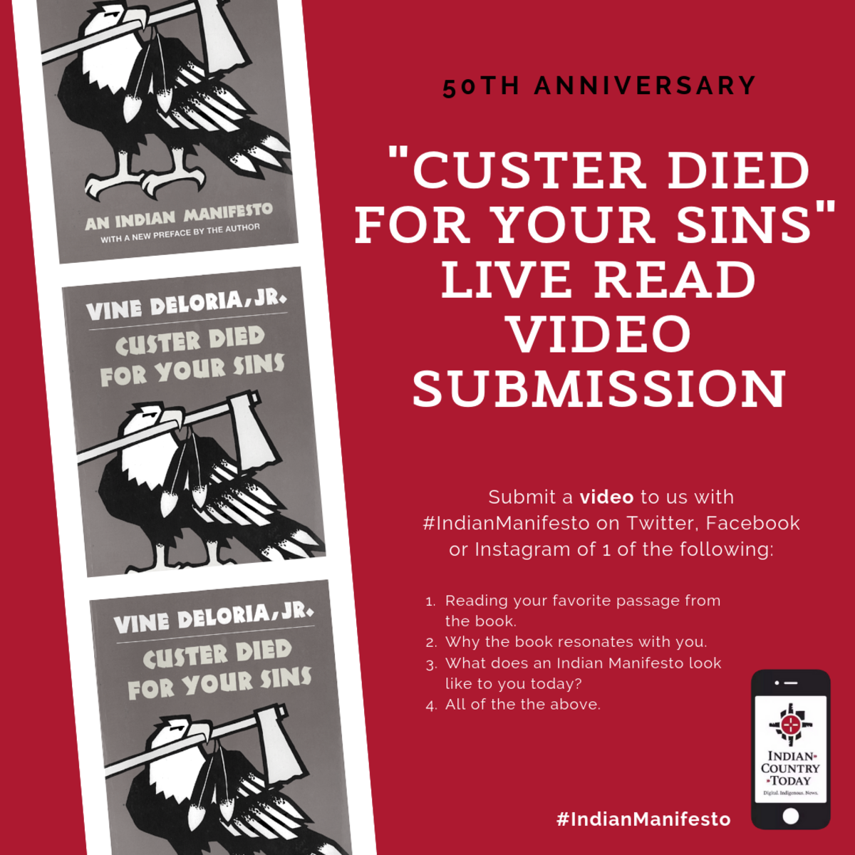 50th anniversary of _custer died for your sins'