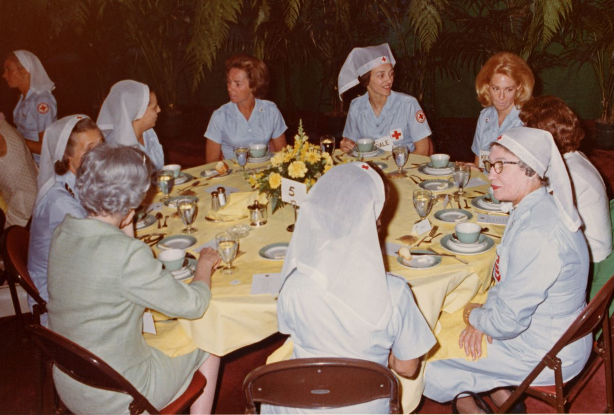 LaDonna Harris sits with other Senate Wives at their weekly Thursday gatherings in Washington, D.C. (Photo via Laura Harris)