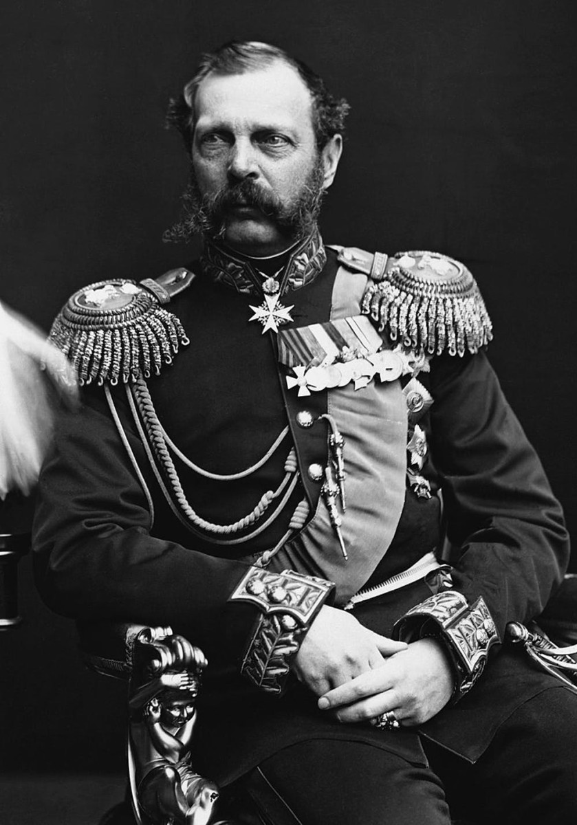 Pictured: Portrait of Czar Alexander II, National Archives of Canada, No. C-010136 (cropped version) .Dated between 1878 and 1881. Alexander II led Russia when the U.S. purchased Alaska.