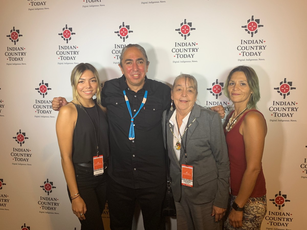 Mark Charles with Native forum attendees.